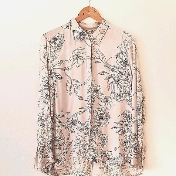 Sportscraft Floral Liberty Silk Shirt Button Down